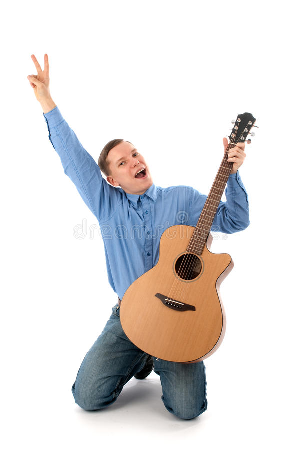 Download Man with guitar stock image. Image of profession, roll - 13672651