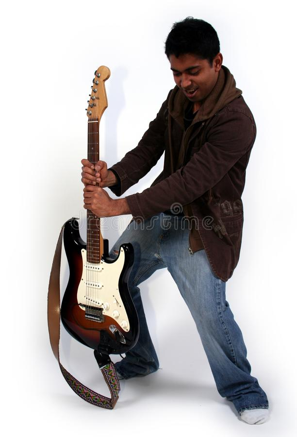 Man and a guitar stock photo