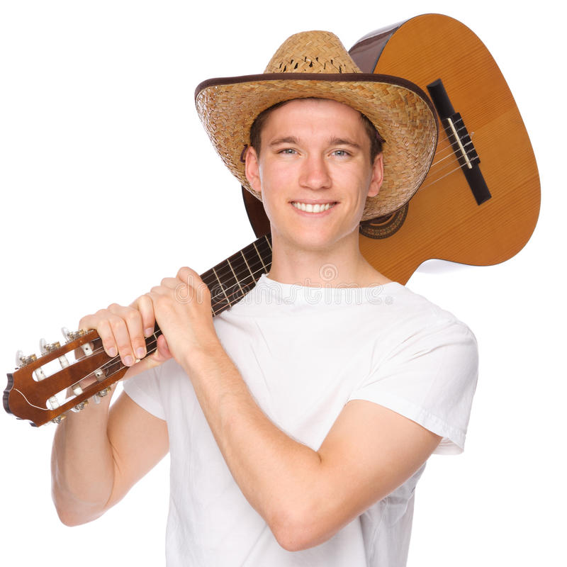 Download Man with guitar stock photo. Image of beauty, play, closeup - 19718732