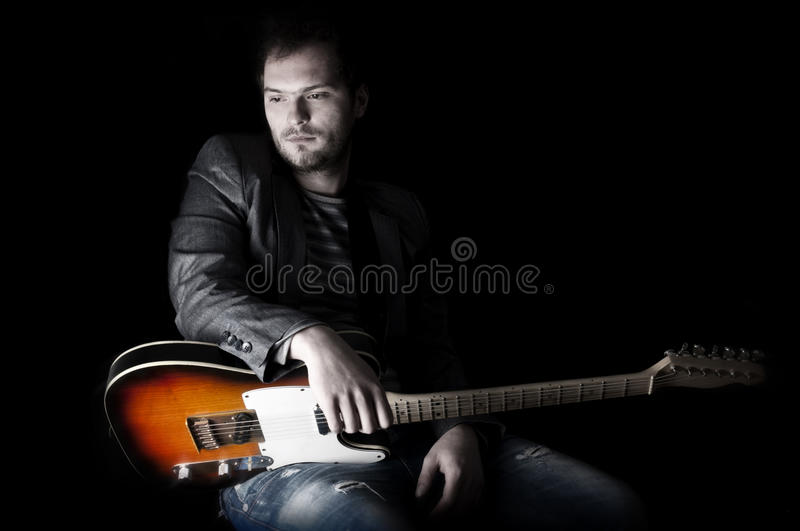 Download Man and guitar stock image. Image of performer, rock - 31712459