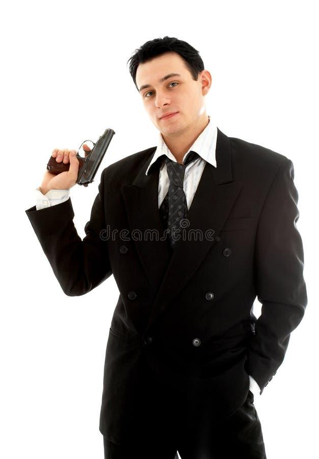 Man with a gun stock photos
