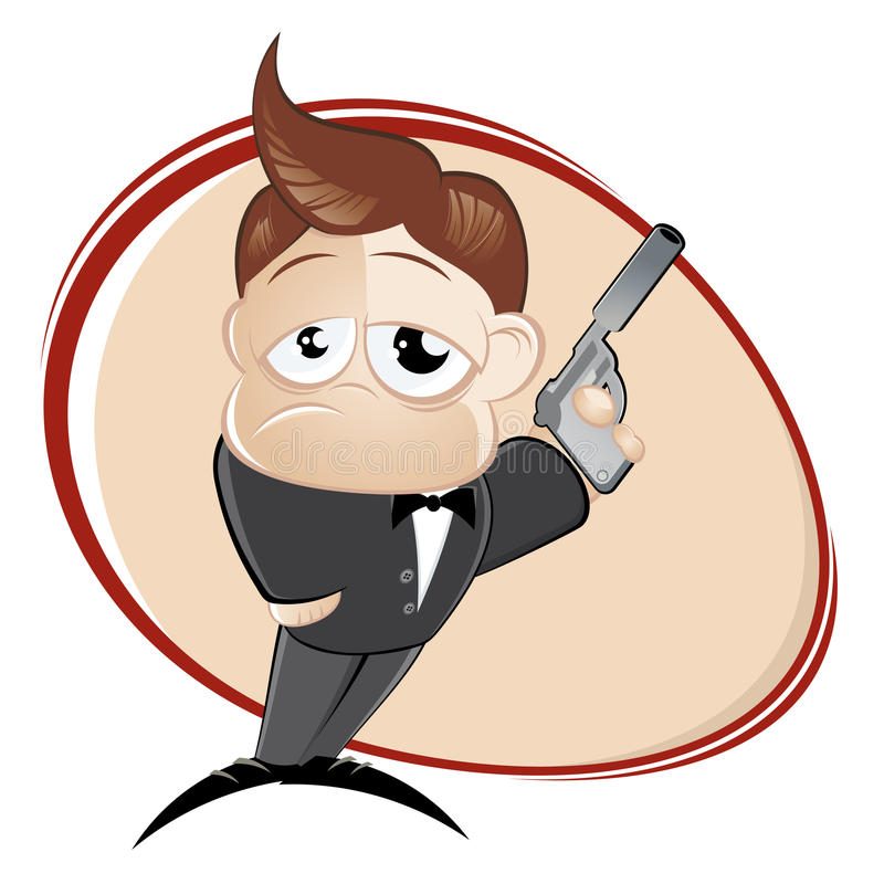 Download Man with a gun stock vector. Image of colour, illustrated - 20064930
