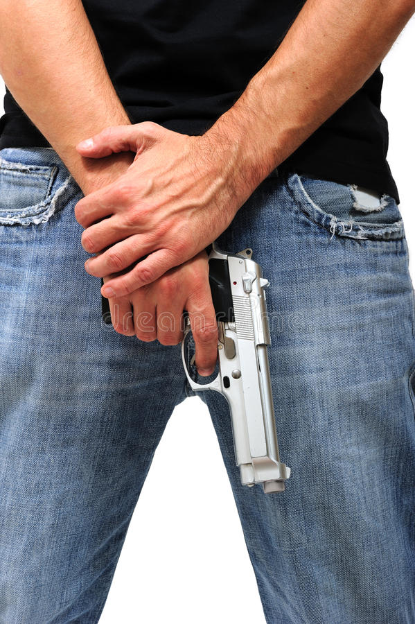 Download Man with gun stock image. Image of prison, criminal, thief - 21556753