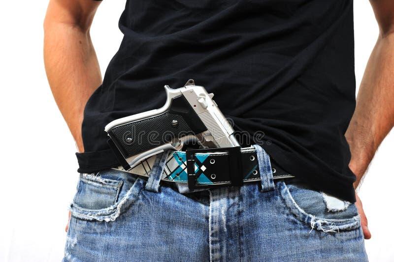 Download Man with gun stock photo. Image of holding, threaten - 21556822
