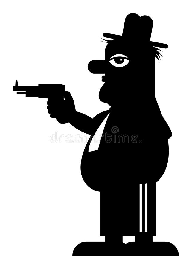 Download Man with gun stock vector. Illustration of kill, isolated - 22027311