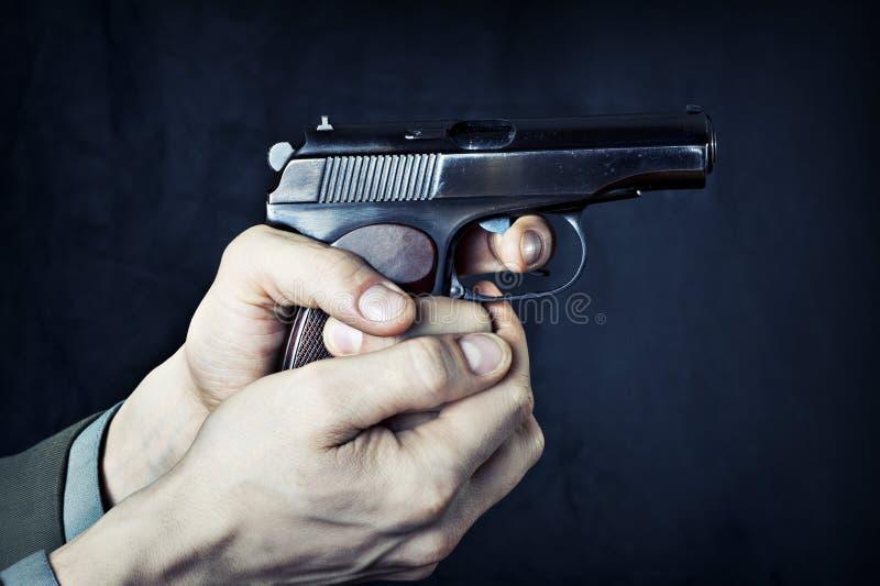 Download Man with gun. stock photo. Image of caliber, army, makarov - 23591432