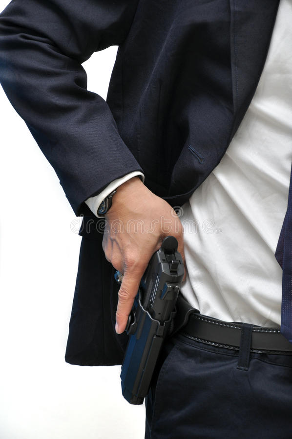 Man with gun royalty free stock photos