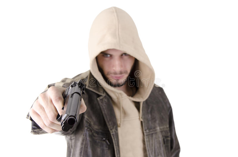 Download Man with gun stock image. Image of person, crime, goatie - 27327463