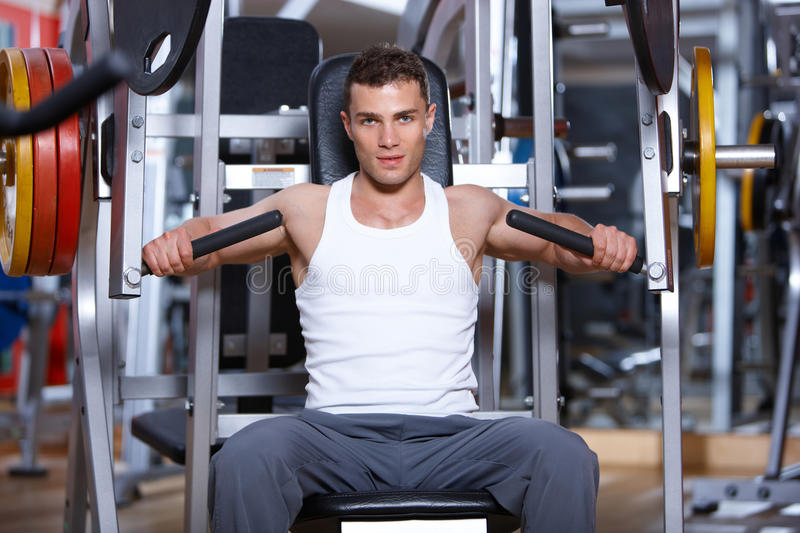 Download Man at the gym stock photo. Image of strong, equipment - 14855118