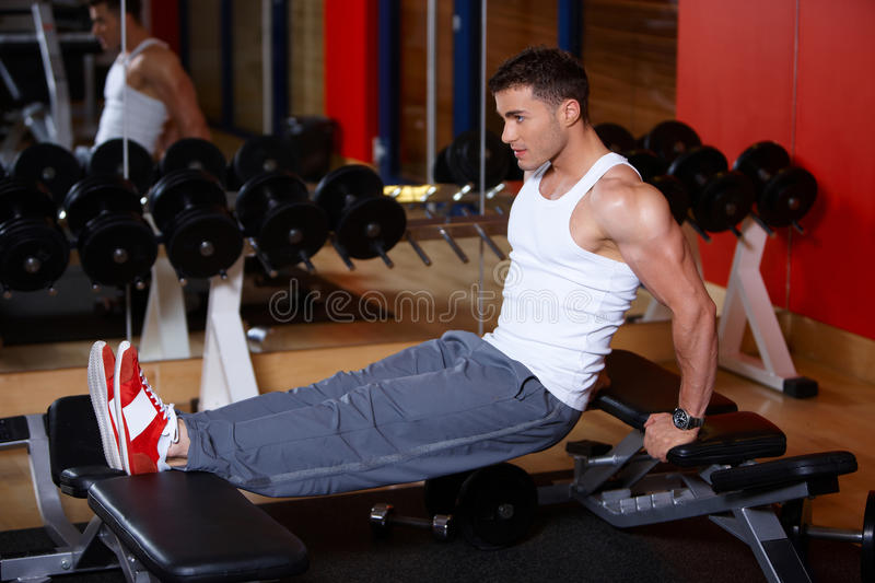 Download Man at the gym stock image. Image of loss, adult, active - 14855243