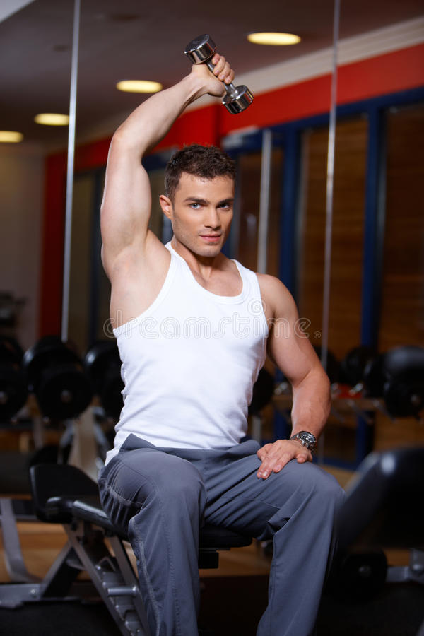 Download Man at the gym stock image. Image of exercise, loss, machine - 14855279