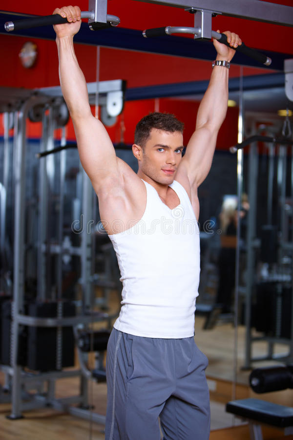 Download Man at the gym stock image. Image of healthy, fitness - 14855401