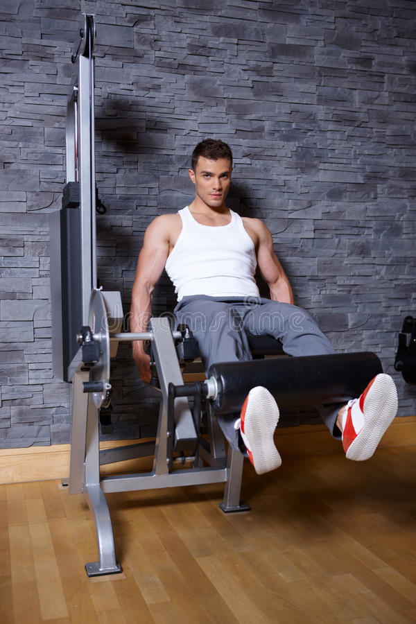 Download Man at the gym stock photo. Image of tracksuit, club - 14855446