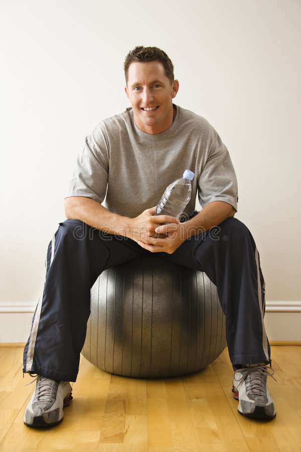Man at gym royalty free stock photo