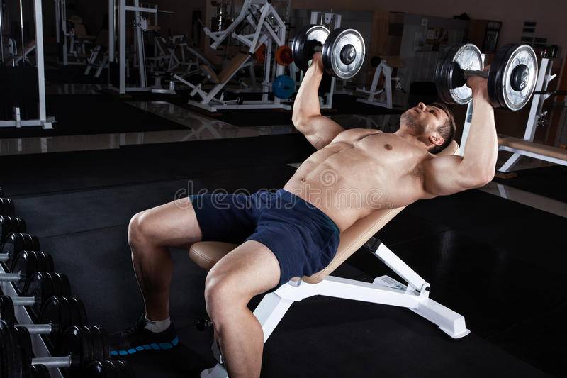 Man at the gym. stock photo