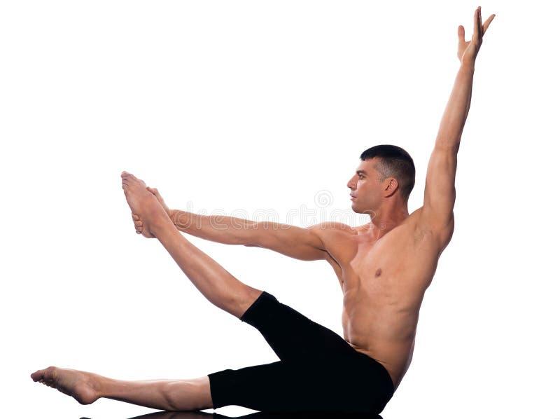 Download Man Gymnastic  Stretching Posture Stock Image - Image: 22306769