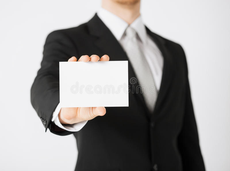Man hand with blank paper royalty free stock images