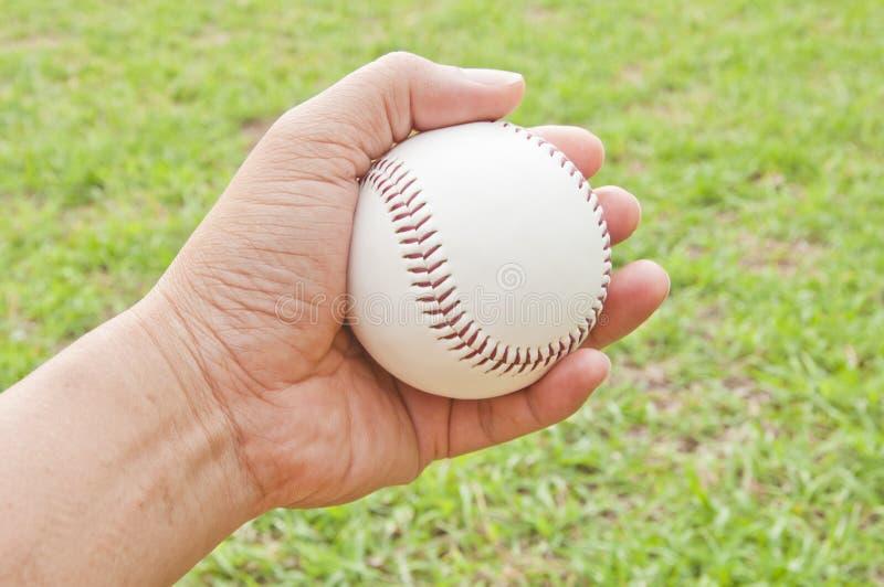 Man hand hold white baseball stock images