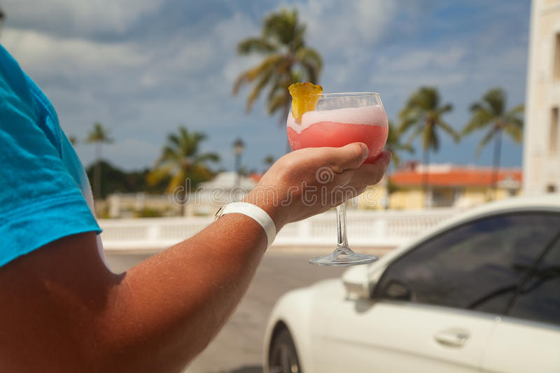 Download Man Hand Holding Alcohol Drink Stock Photo - Image of nature, speed: 39500464