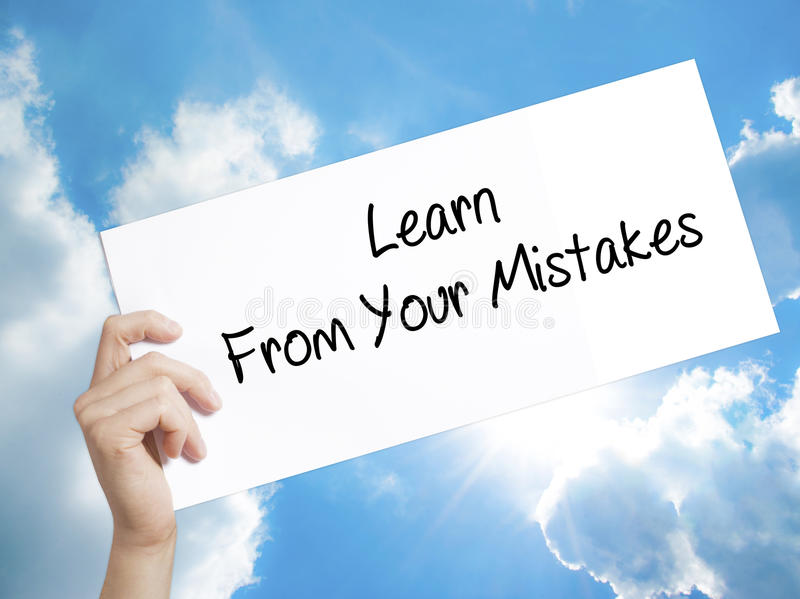 essay on learning from your mistakes In fact, you will probably know that math problem better than any other question on your final when we learn from our mistakes and take the lesson to heart, we're.