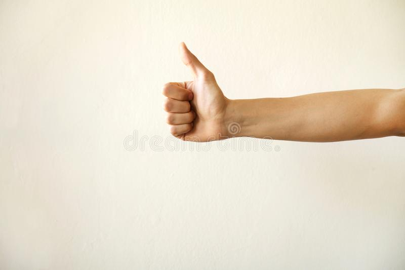 Man hand isolated old background stock photo