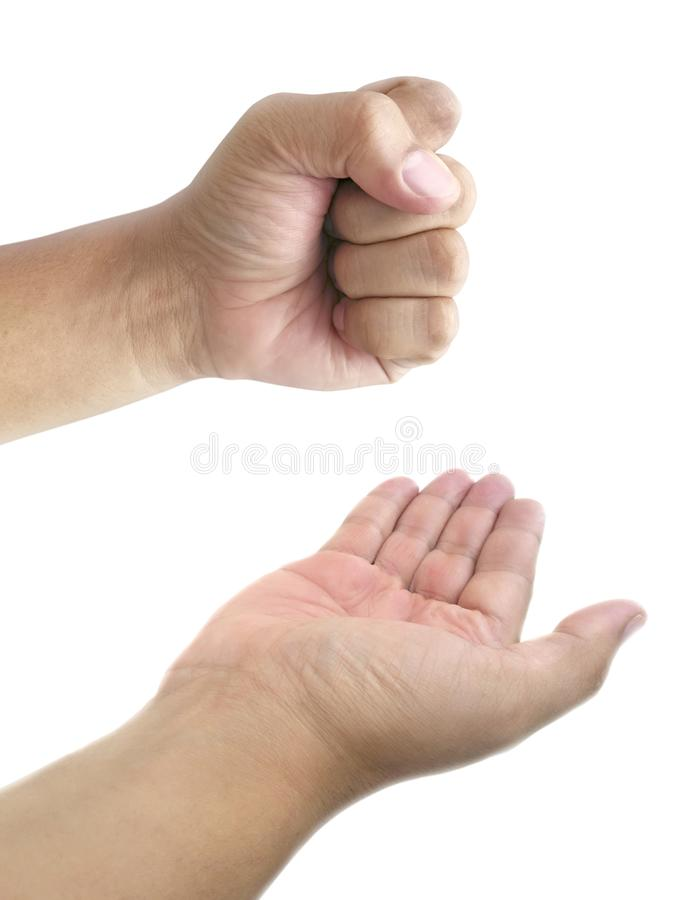 Man hand isolated on white background royalty free stock images