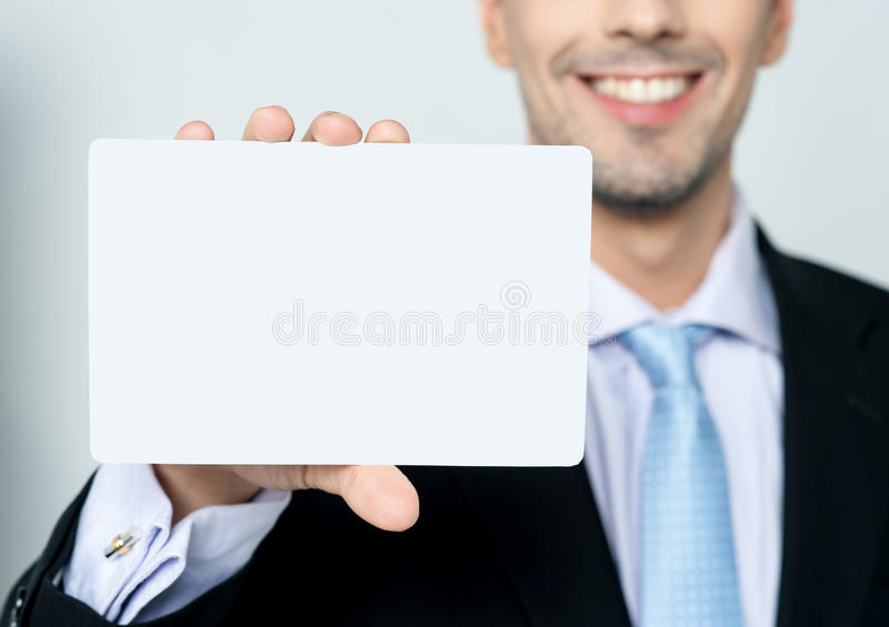 Download Man Hand Showing Business Card Stock Photo - Image: 38710732