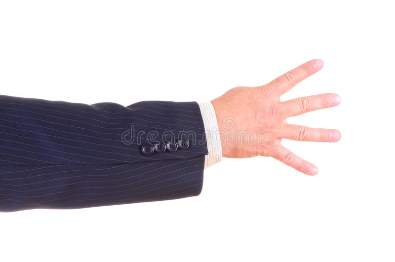 Download Man hand sign isolated stock image. Image of count, finger - 26418587