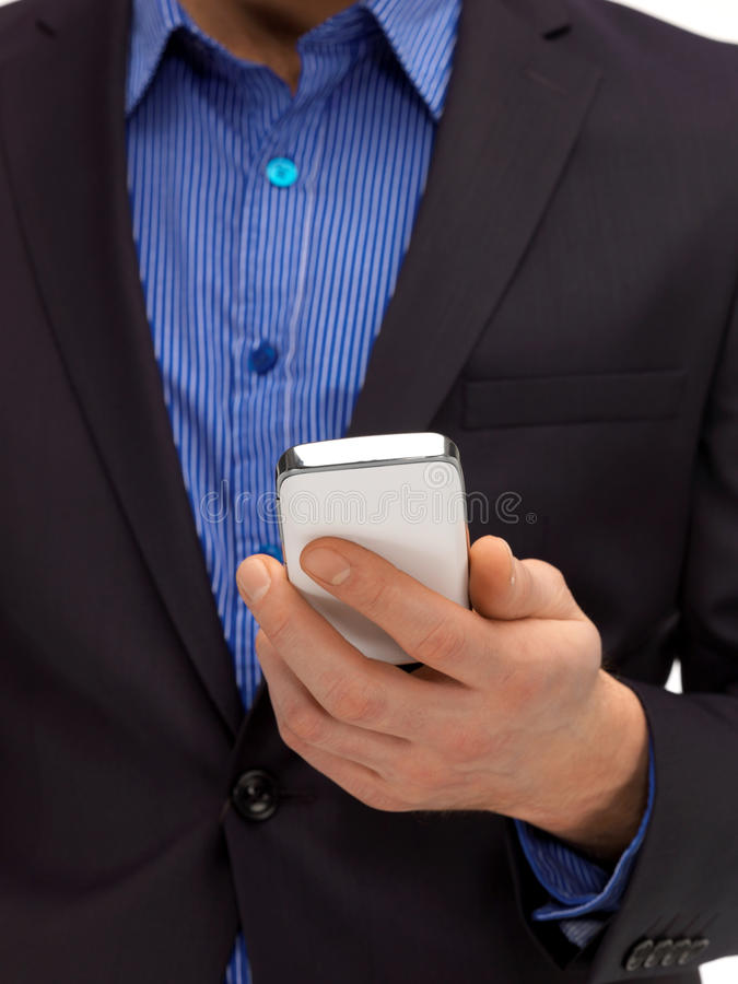 Man Hand With Smartphone Stock Photography