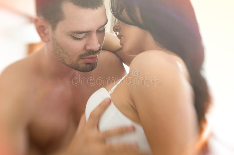Man Hand Take Woman Breast Stock Image Image Of Honeymoon -4431