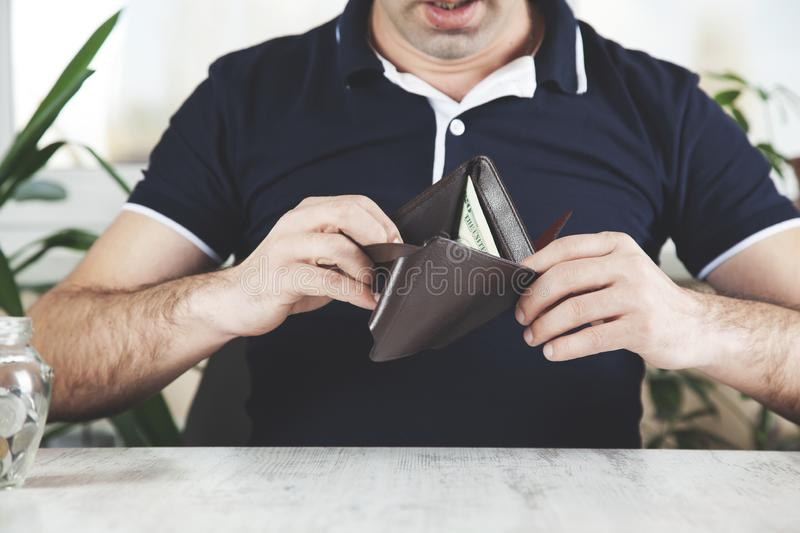 Man hand wallet stock images