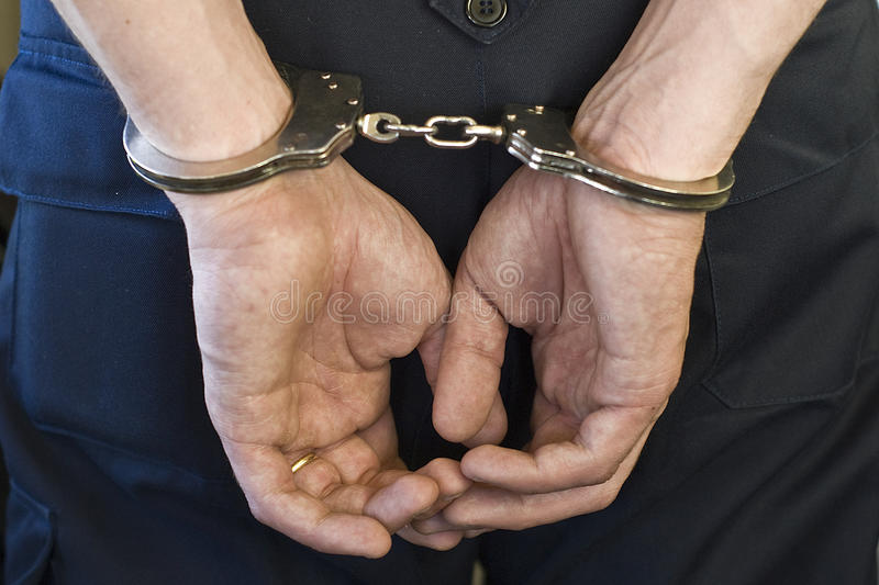 Download Man with handcuffs. stock image. Image of arrested, immobilized - 13242733