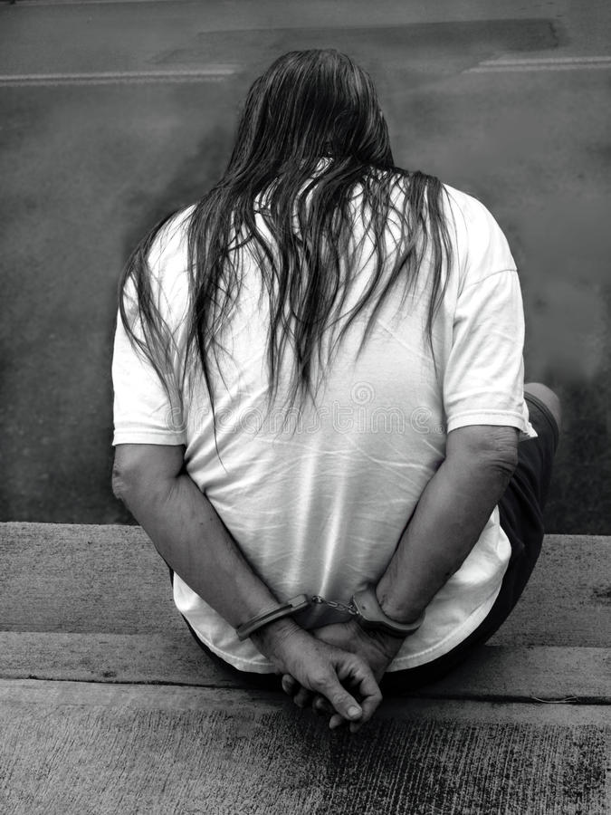 Man in handcuffs royalty free stock photos
