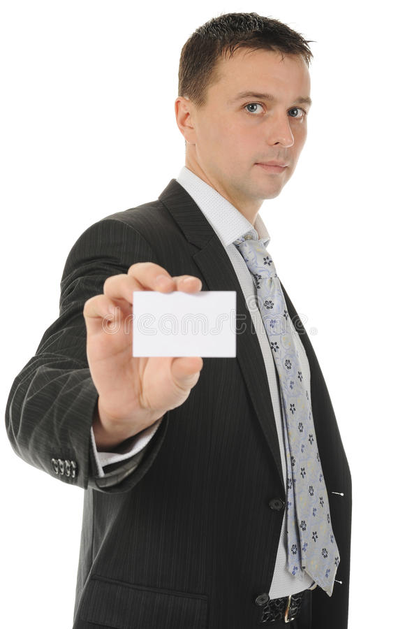 Download Man handing a blank stock image. Image of copy, occupation - 17303121