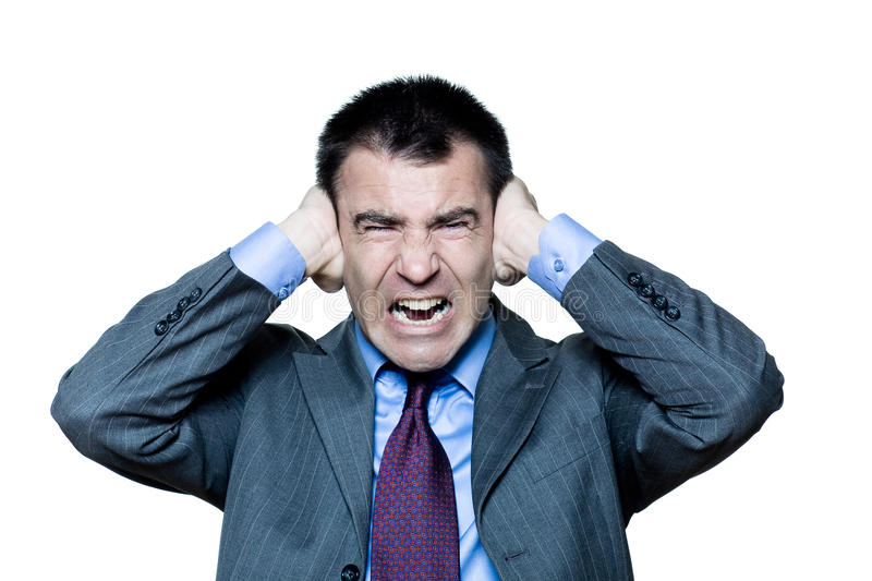 Download Man Hands Covering Ears Annoyed By Sound Shouting Stock Image - Image of ache, afraid: 21164867