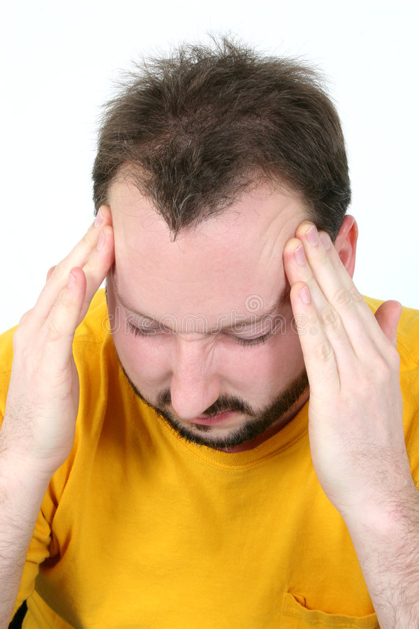 Man With Hands On Head royalty free stock images