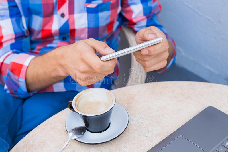 Download Man Hands Holding Mobile Phone,smartphone. Stock Photo - Image: 34065878