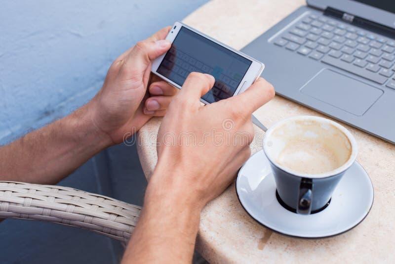 Download Man Hands Holding Mobile Phone,smartphone. Stock Image - Image of finance, media: 34065959