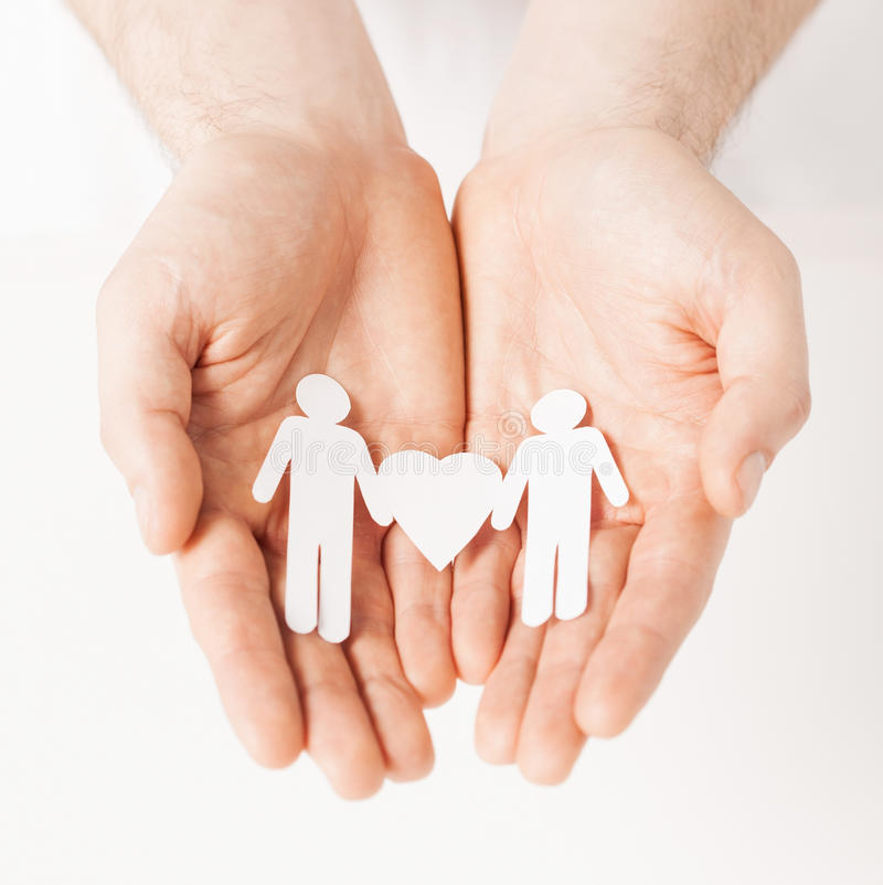 Download Man hands with paper men stock photo. Image of help, people - 32103476
