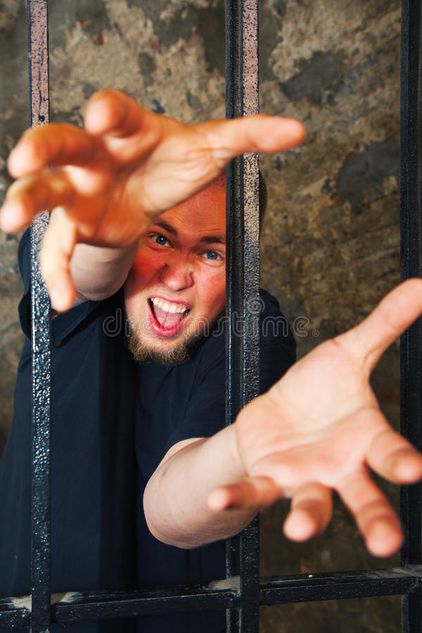 Download Man with hands stratching stock image. Image of confined - 25983215