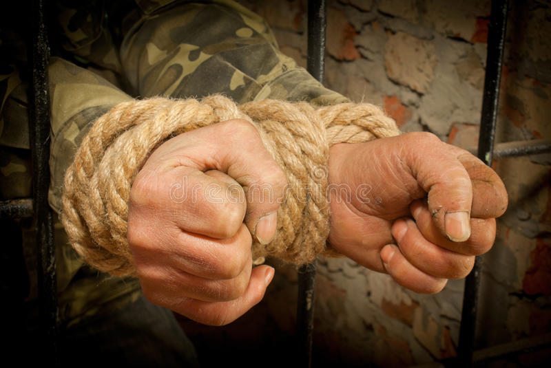 Download Man With Hands Tied With Rope Royalty Free Stock Photo - Image: 23444545