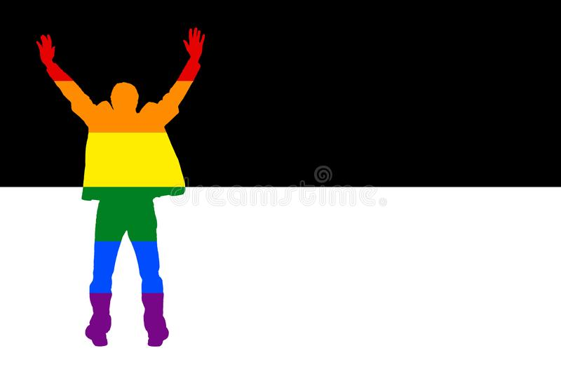 Man hands up protest color LGBT stock images