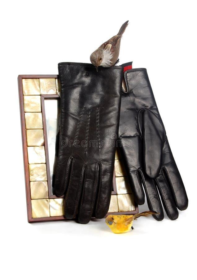 Man handschoenen stock foto