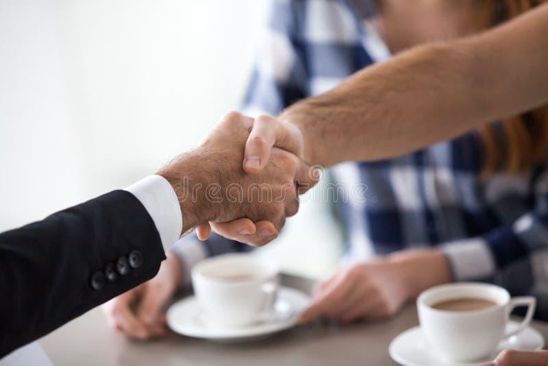 Man handshaking businessman, salesman, broker, real estate agent royalty free stock photos