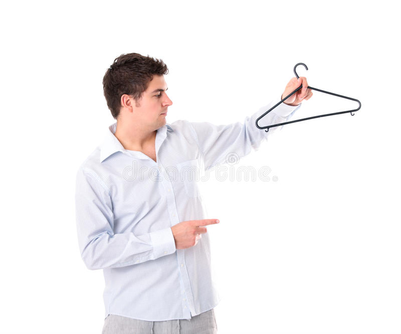 Download Man With A Hanger Stock Image - Image: 20304561
