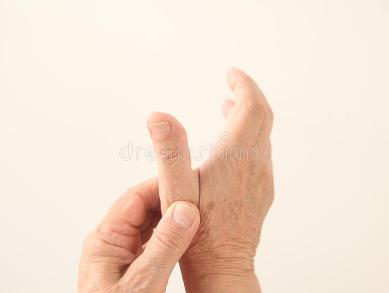 Download Man Has An Aching Thumb Stock Photography - Image: 26178422