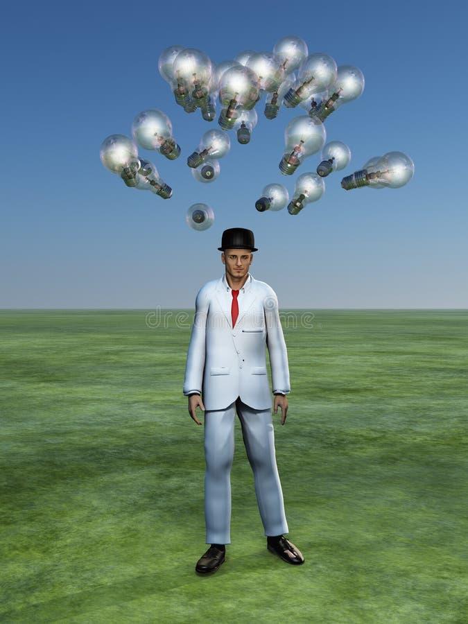 Download Man has brain storm stock illustration. Image of imagination - 28197368