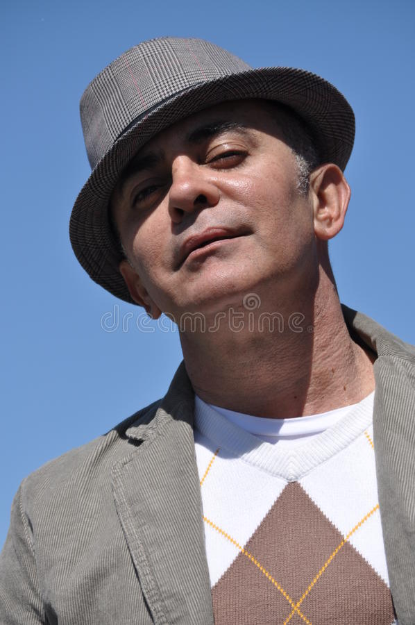 Man With Hat Royalty Free Stock Photos