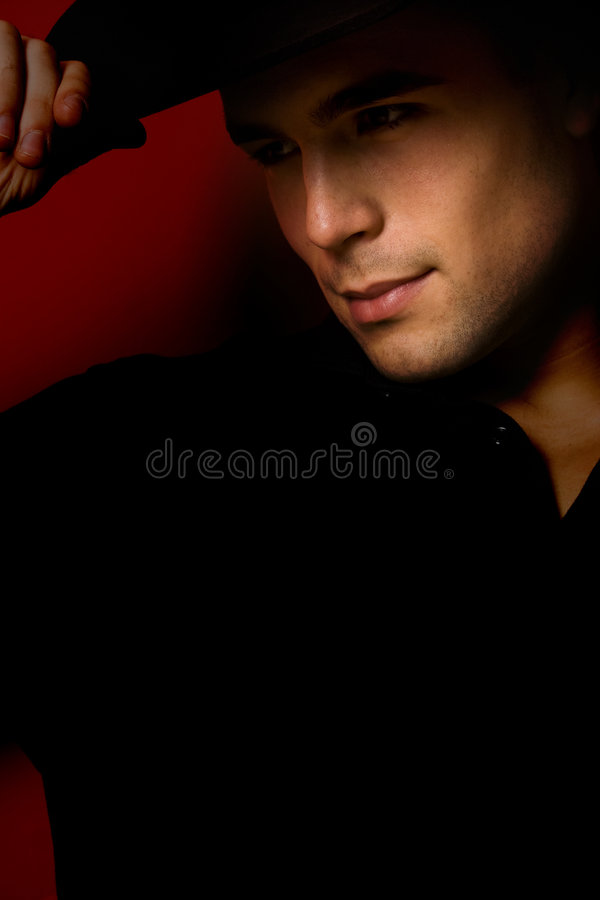 Man with hat royalty free stock images