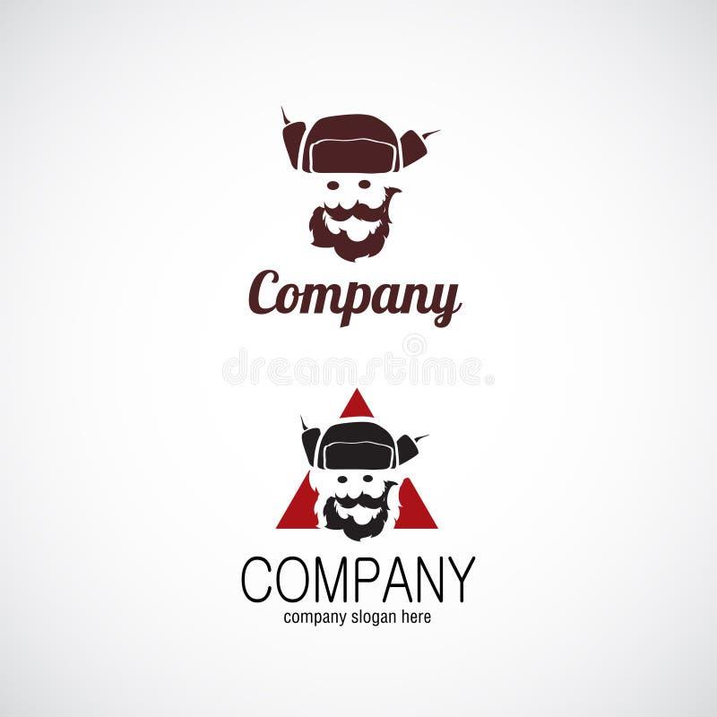 Man in hat company logo